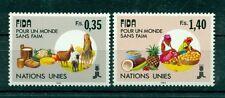 """Nations Unies Géneve 1988 - Michel n. 162/63 - """"FIDA pour un monde sans faim"""""""
