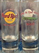 "Hard Rock Cafe New Orleans 2003 Shot Glass 4"" ""Swap in the Swamp"" Hrc Pin Event"