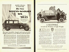 1920s Classic Car Ads, 2 for 1 !, Willys-Knight Six and a Maxwell- 011814
