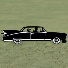 "*NEW* Handmade Wood Lawn Art Yard Shadow/Silhouette - 1959 Classic Car 93"" x 26"""