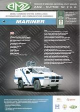 AMZ MARINER 2012 POLISH ARMY MILITARY BROCHURE PROSPEKT FOLDER DEPLIANT