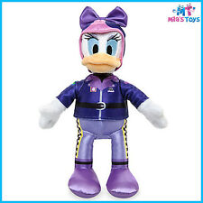 """Disney Daisy Duck 9 1/2"""" Plush Doll - Mickey and the Roadster Racers Series"""