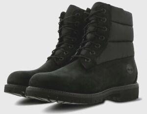 Timberland Premium 6 inche Quilt Black Waterproof Mens Boots UK 10 EU 44.5