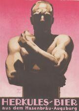Ludwig Hohlwein - Farbige Werbegraphik 20er Jahre - Motiv Herkules Bier