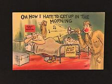 Comic postcard Oh How I hate to get up in the morning Colourpicture ARMY