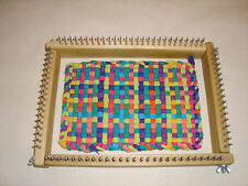 Oblong Potholder Weaving Loom - Uses Traditional & Jumbo Loops - Cottage Looms