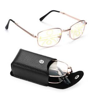 Case Metal Reading Glasses Presbyopia Eyeglasses Progressive Multifocal Lenses