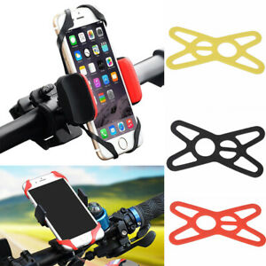 3PCS Universal Bicycle Motocycle Bike Mobile Phone Silicone Mount Holder Bracket