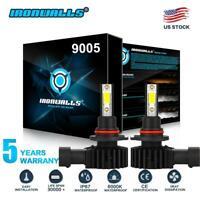 IRONWALLS 9005 HB3 LED Headlight Kit 2200W 330000LM Hi/Lo Beam Bulb 6000K 9145