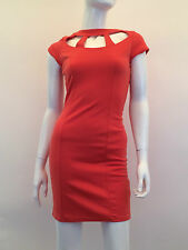 Rare London New Women,s Cut out Neck Dress Size 6 Uk XXS Made in UK
