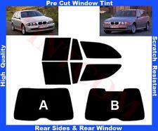 Passgenaue Tönungsfolie BMW 5er E39 Kombi 5T 97-04 Heck/Seitenscheiben 5%-50%