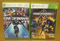 Crackdown 1 + 2 - XBOX 360 Games Rare Kids Game Lot Complete crack down