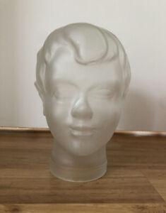 Satinierter Glaskopf / Kopfhörerhalter / Hutständer