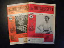 Vintage May 1953 and March 1956 Workbasket Magazine, Sewing, Crochet, Knit