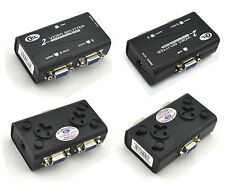 1 to 2 Way Monitor VGA TV AV RCA Video Splitter Duplicator Adapter Male Female