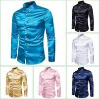 Blouse Stylish Slim Fit Dress Shirts Mens Long Sleeve Casual Shirt Luxury Top