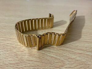 18MM BAMBOO BONKLIP STYLE YELLOW GOLD GENTS WATCH STRAP.