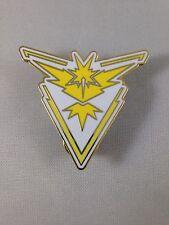 Pokemon Team Instinct Metal Pin GO Yellow And White