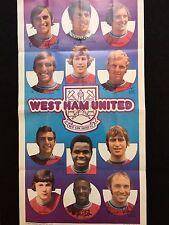 A&BC West Ham United Football Club 1972-73 No. 14 Giant Team Poster Memorabilia