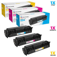 LD Remanufactured HP 312A Toner Cartridges Cyan, Magenta, Yellow for MFP M476