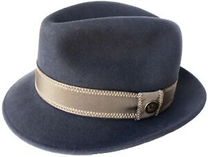 """Goorin Bros """"Red Ricci"""" Made in USA Wool Fedora Snap Brim Trilby Vintage Small"""