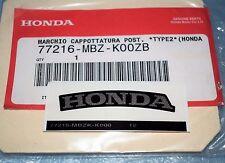 autocollant Logo coque arrière HONDA CB 600 F HORNET 2003 77216-MBZ-K00ZB