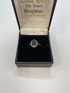 Diamond amd Sapphire Ring