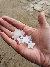 Single Frosted 20mm Acrylic Shapes Round Heart Star Square or Custom, 3mm Thick