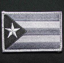 PUERTO RICO RICAN FLAG DARK OPS SWAT TACTICAL COMBAT VELCRO MORALE BADGE PATCH