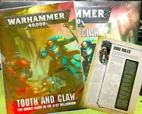 New~TOOTH And CLAW 40-page Warhammer 40K RULEBOOK+8-pg CORE RULES=Games Workshop