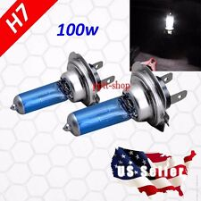 H7 Halogen Xenon Headlight Bright White 5000K 100w Lamp Light Bulb Low Beam