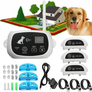 Wireless Electric Dog Fence Pet Containment System Shock Collar For 1/2/3 Dog