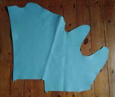 Powder Blue Saffiano Leather Hide Remnant LSAF30