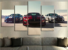 Ford Mustang Shelby Gt500 Car 5 Pieces Canvas Wall Art Poster Print Home Decor