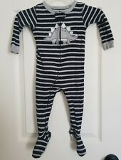 Baby Boy Carter'S size 12 Months Footed Sleeper Boys Pajamas Dinosaur striped
