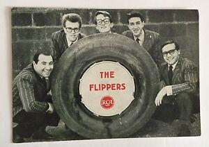 CARTOLINA PROMOZIONALE RCA PROMO POSTCARD ORIGINALE THE FLIPPERS PRIMI ANNI '60
