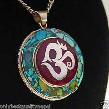 elegant pendant OM SYMBOL NEPAL Men's Jewelry Pendant Sterling Silver A132