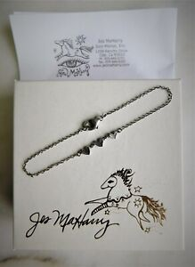 "Original MINT with Box Jes Maharry Sterling 925 Heart Bracelet 7 1/2"" Never Worn"