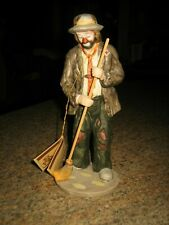 Flambro Emmett Kelly Jr. Collection Porcelain Figurines Weeping Up Hobo W/ Tag