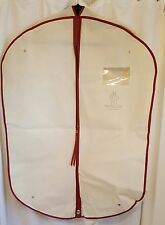 "NEW Small MONCLER Beige ""Gamme Rouge"" Garment Bag/Suit Cover- 34.5"" x 25"" x 4.5"""