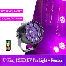 Strahler 12LED Bühnenlicht UV Schwarzlicht DMX BüHnenbeleuchtung+Fernbedienung