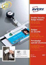 Avery 4827 - Badges de Sécurité 2 cartes 54 x 90 mm Transparent
