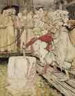 Arthur Rackham Arthur Pulling Excalibur From The Stone Canvas Print     #3975