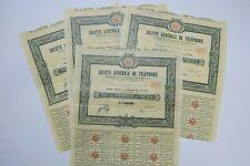 SOCIETE GENERALE DE TELEPHONE UN DIXIEME DE PART DE FONDATEUR 1924 X 4 ACTIONS