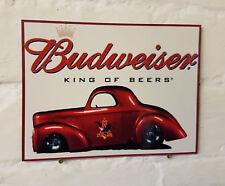 Budweiser METAL SIGN 2 Sizes Available ideal for pub bar Man Cave / car / hotrod