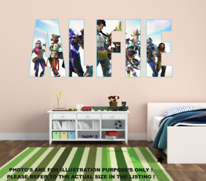 Personalised Name Fortnite style stickers decal vinyl wall art gaming - Any Name