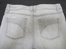 White House Black Market Gray Stretch Jeans Blanc Mid-Rise Boot Cut Size 8