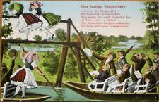 Risque 1910 Postcard: Men Looking at Women's Underwear: Spreewald, Sangerfahrt