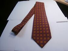 Paul Stuart New York 100 % Silk Men's Neck Tie red blue gold geometric design