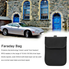 FARADAY Leather Car Key Chain Ring Card Holder Pouch Case Organizer Bags Wallet